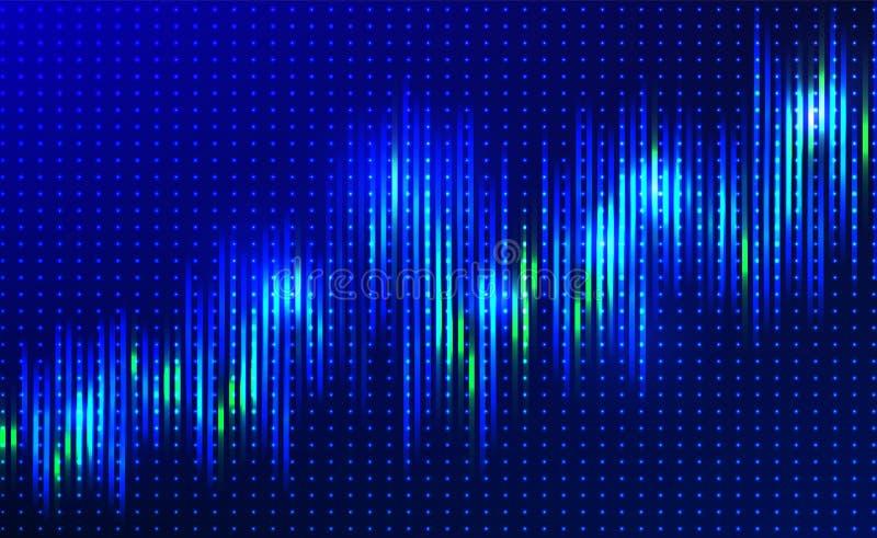 Große Datenflussvektor-Komplexsichtbarmachung lizenzfreie abbildung