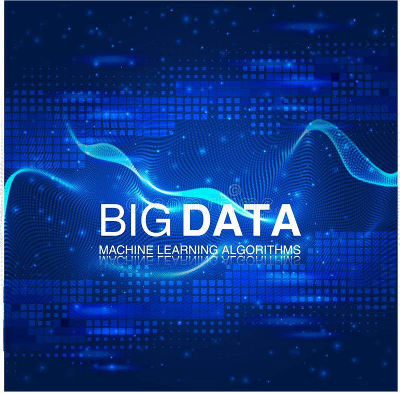 Große Datensichtbarmachung Futuristisches infographic Ästhetisches Design der Informationen Sichtdatenkomplexität vektor abbildung