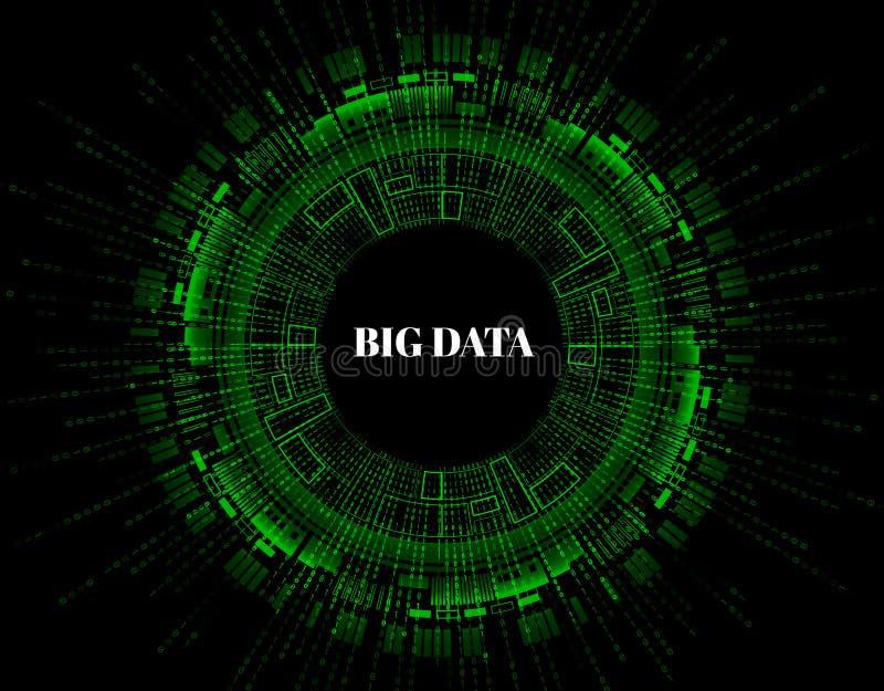 Große Datensichtbarmachung Futuristisches infographic Ästhetisches Design der Informationen Sichtdatenkomplexität Abstrakte Daten vektor abbildung