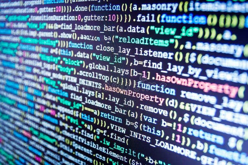 Große Datenspeicherung und Datenverarbeitungsdarstellung der Wolke Programmierung von Internet-Website lizenzfreies stockfoto
