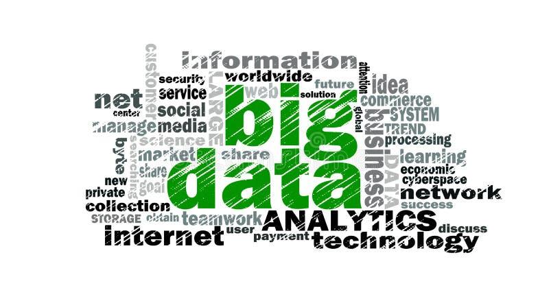 Große Datenwortwolke stock abbildung