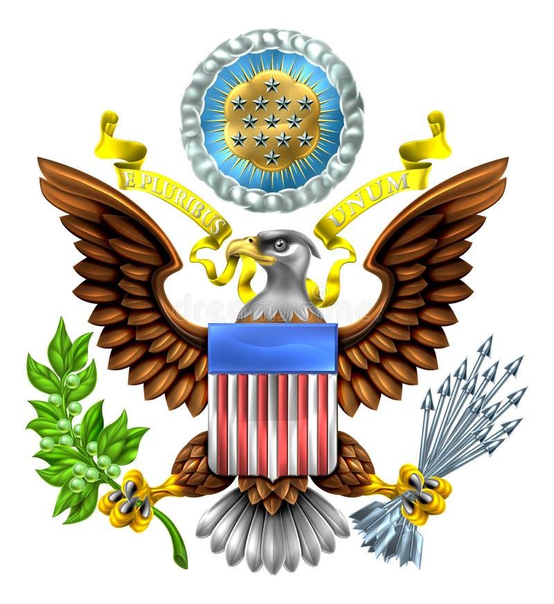 Große Dichtung der Vereinigten Staaten vektor abbildung