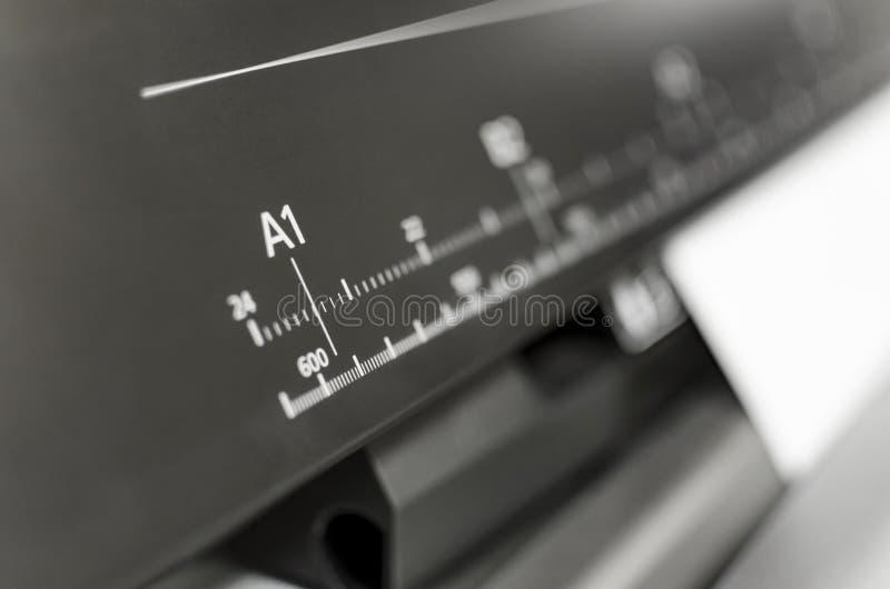 Große Druckerformat-Tintenstrahlfunktion lizenzfreies stockbild