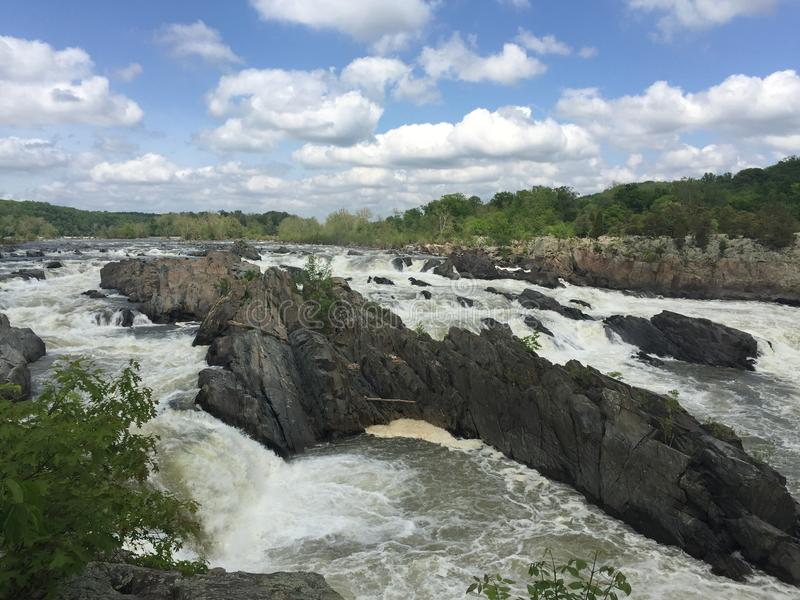 Große Fälle des Potomacs stockbilder
