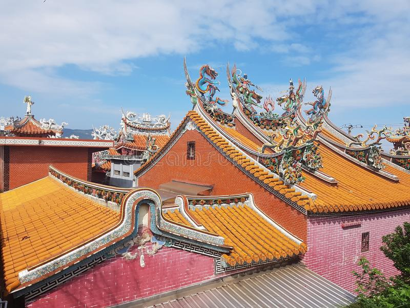 Große Farben für einen Tempel stockfotos