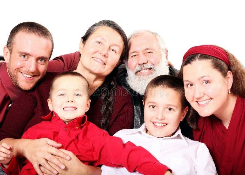 Große Feiertagsfamilie stockfotos