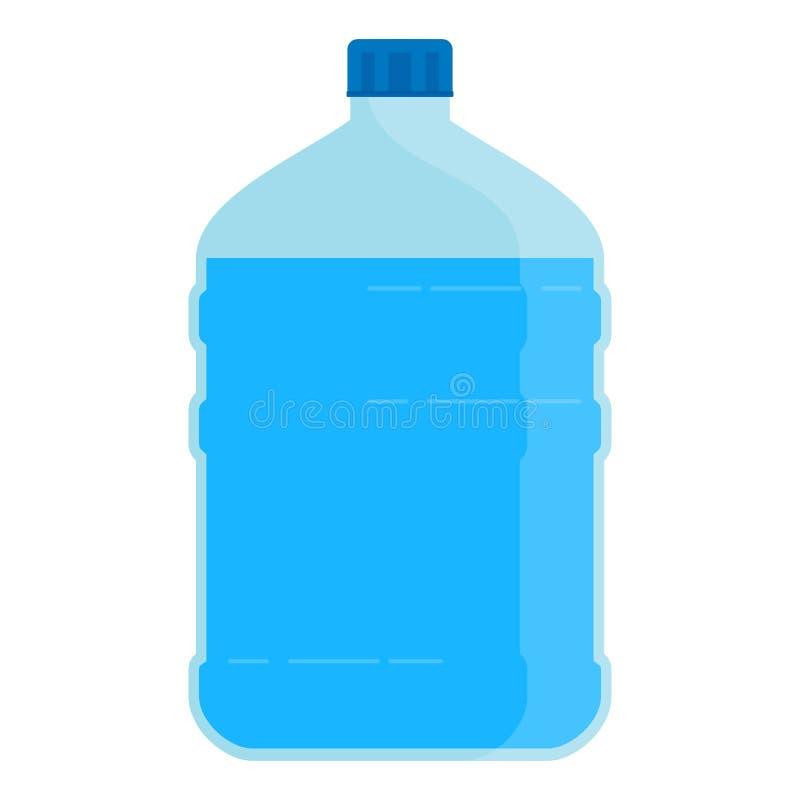 Große Flasche für Wasser lizenzfreie abbildung