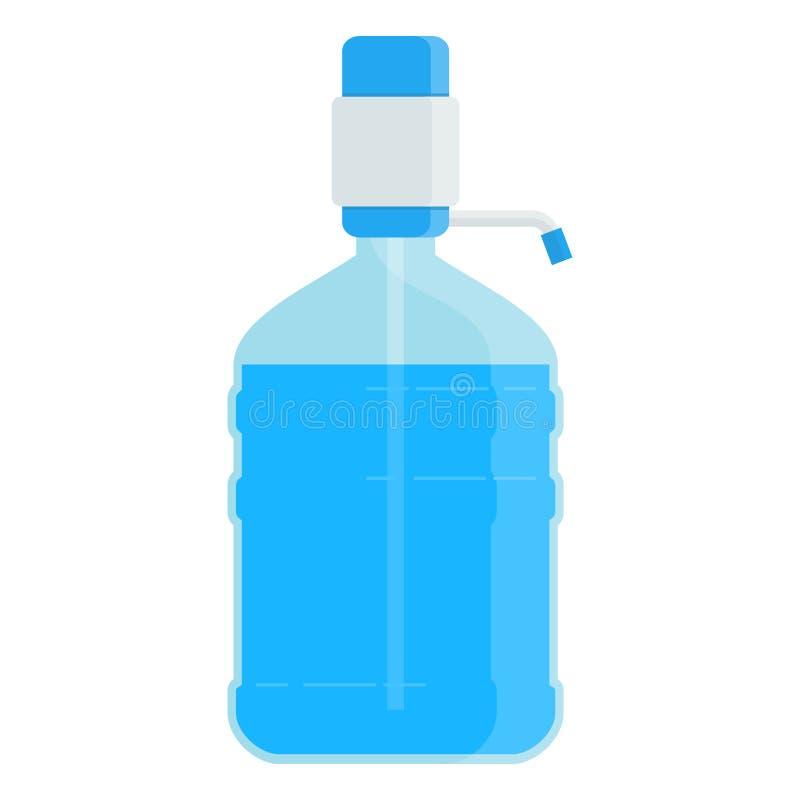 Große Flasche mit Wasser stock abbildung
