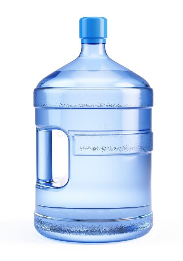 Große Flasche reines wate stock abbildung