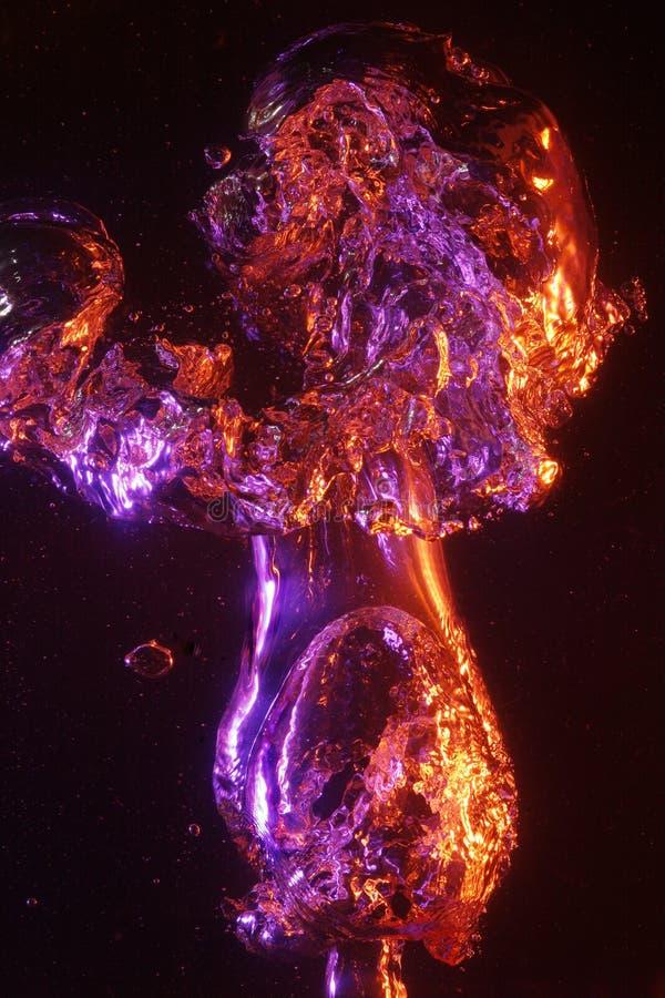 Große funkelnde Luftblasen stockbilder