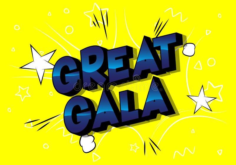 Große Gala - Comic-Buch-Artwörter lizenzfreie abbildung
