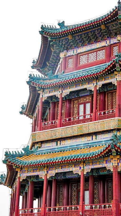 Große Gebäudestruktur im Porzellan stockbilder