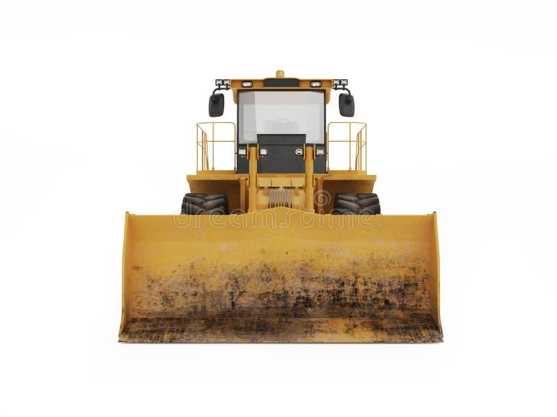 Große gelbe Planierraupe lizenzfreie abbildung