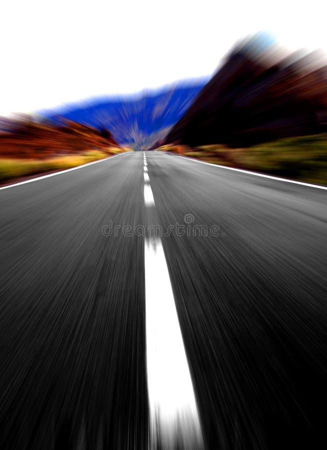 Große Geschwindigkeit auf der Autobahn stockfotografie