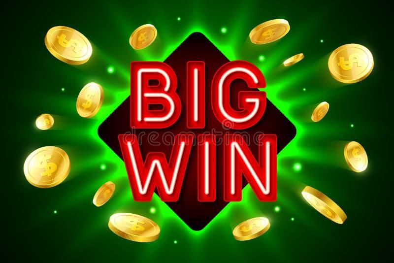 Große Gewinnfahne für Kasinospiele vektor abbildung
