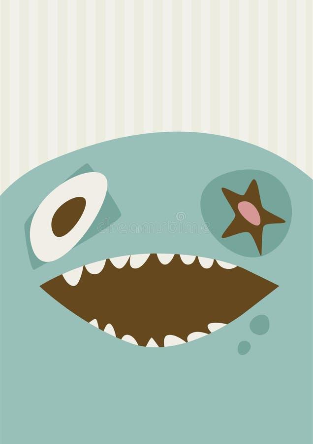 Große glückliche Monster-Illustration lizenzfreie stockbilder