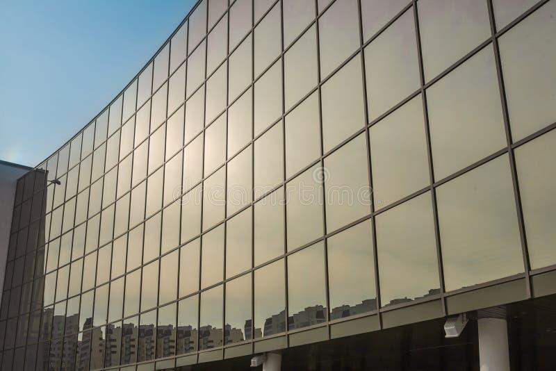 Große Glaswand stockfoto