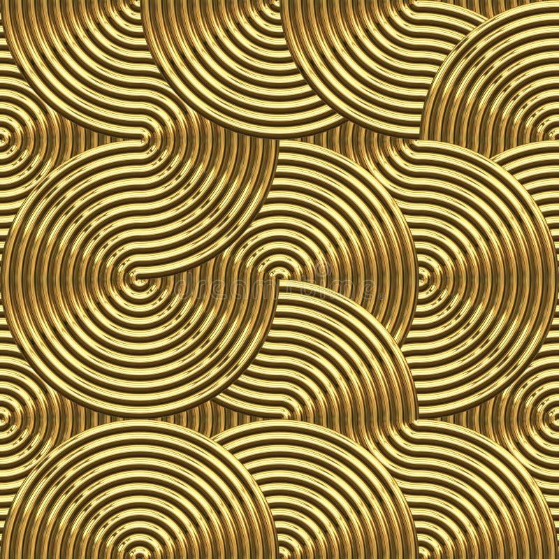 Große goldene Strudel stock abbildung