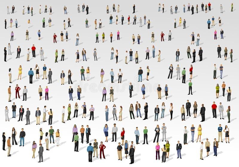 Große Gruppe von Personen lizenzfreie abbildung