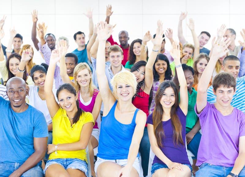 Große Gruppe von Studenten-The Conference Room-Konzept lizenzfreies stockfoto