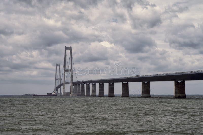 Große Gurt-Brücke stockfotos