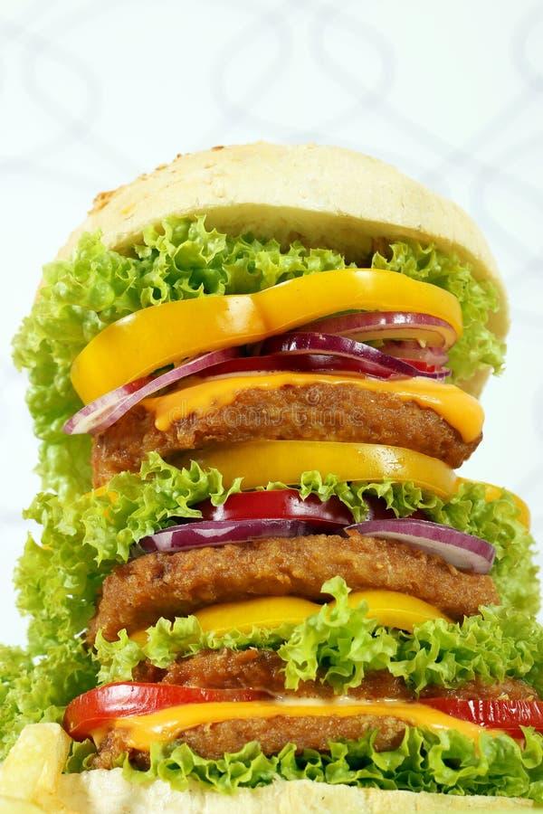Große Hamburgernahaufnahme stockfoto