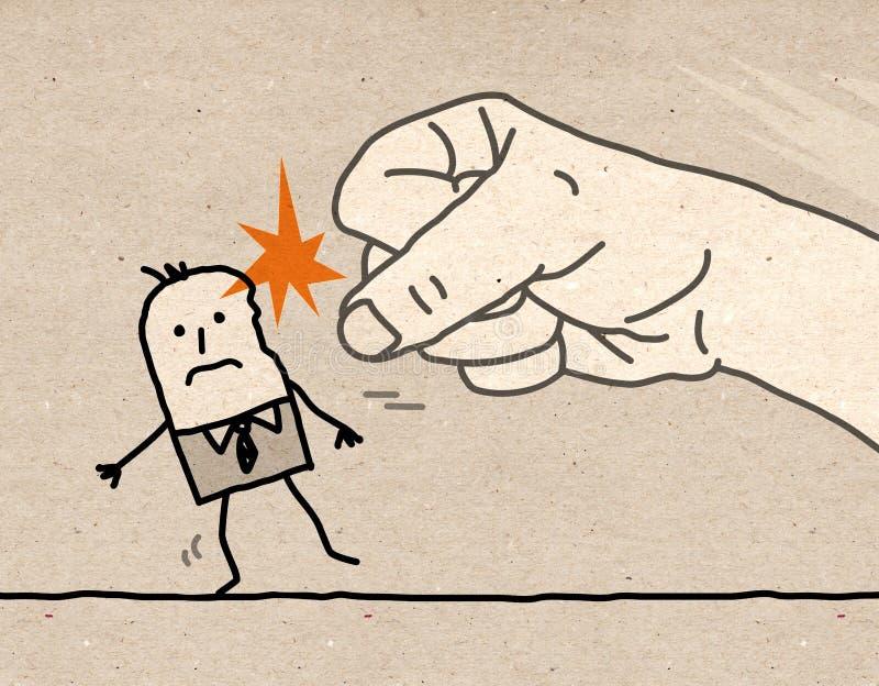 Große hand- Gewalttätigkeit stockfoto