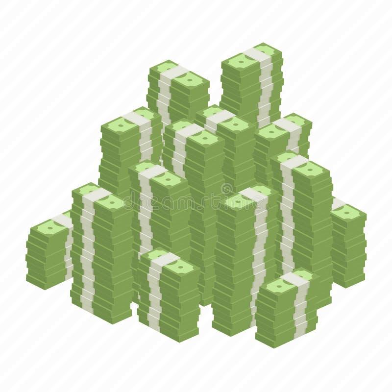 Große Haufenrollen des Geldes stockfoto
