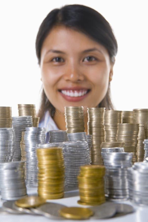 Große Investition holt Glück stockbild