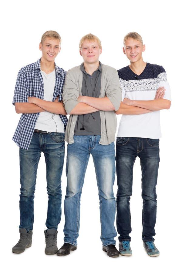 Große junge Kerle im vollen Wachstum lizenzfreie stockfotos