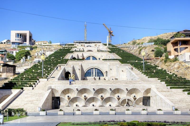 Große Kaskade Yerevan, Armenien stockbilder