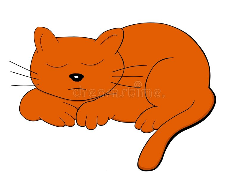 Große Katze stock abbildung
