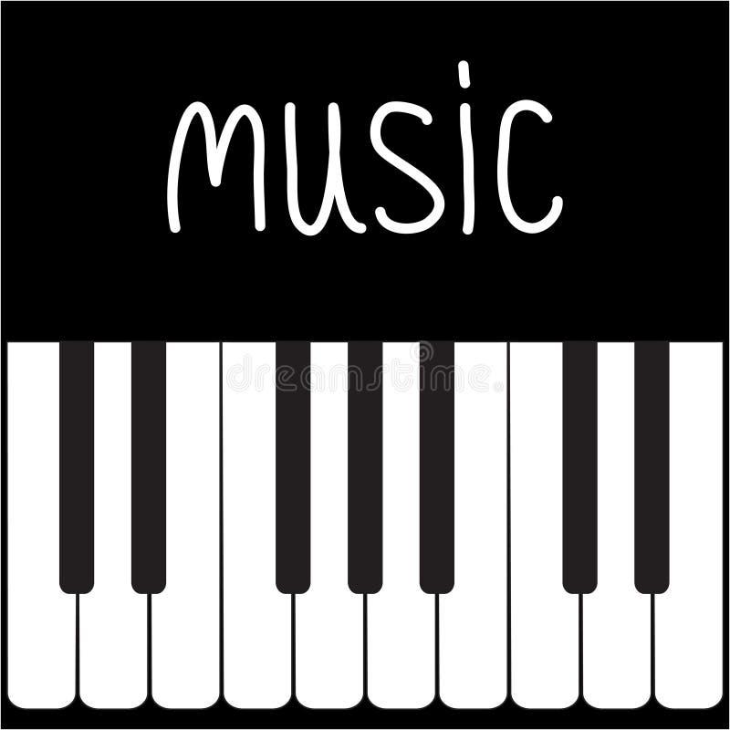 gro e klavier schl ssel und wei e wort musik karte stock abbildung bild 33873538. Black Bedroom Furniture Sets. Home Design Ideas
