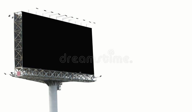 Große leere Anschlagtafel lokalisiert auf weißem Hintergrund für Anzeige und Geschenk lizenzfreie stockbilder