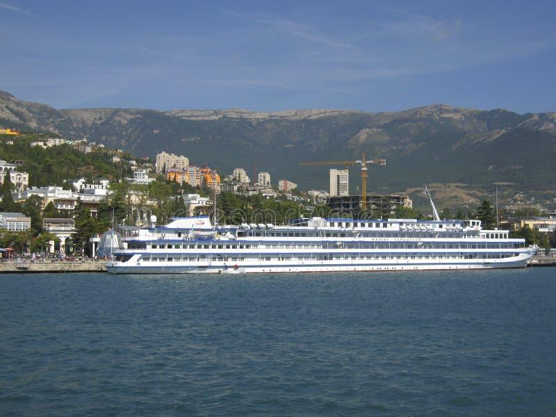 Große Lieferung, Stadt Yalta, Krim, Schwarzes Meer lizenzfreie stockfotografie
