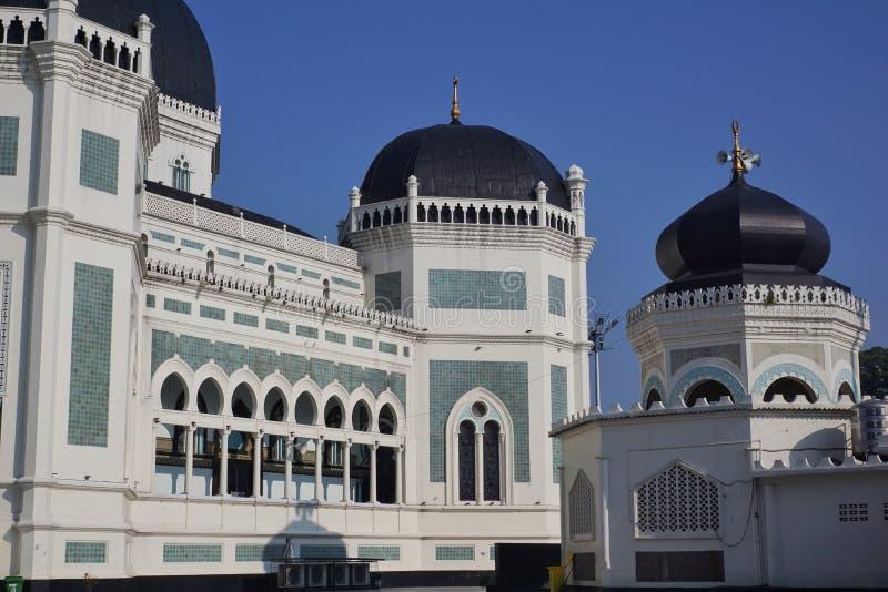 Große Moschee Medan stockbild