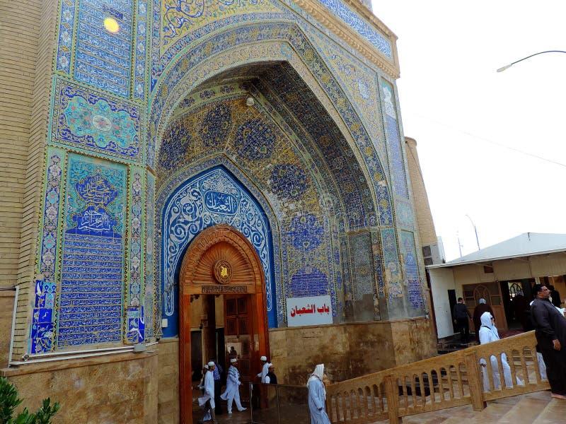 Große Moschee von Kufa, Nadschaf, der Irak lizenzfreies stockbild