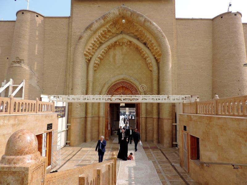 Große Moschee von Kufa, Nadschaf, der Irak lizenzfreie stockfotos