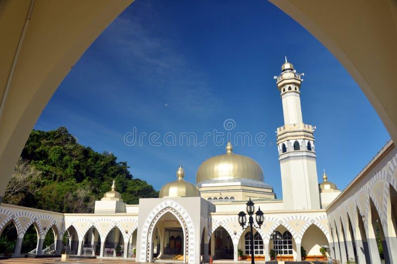 Große Moschee von Lawas, Sarawak, Malaysia stockfoto