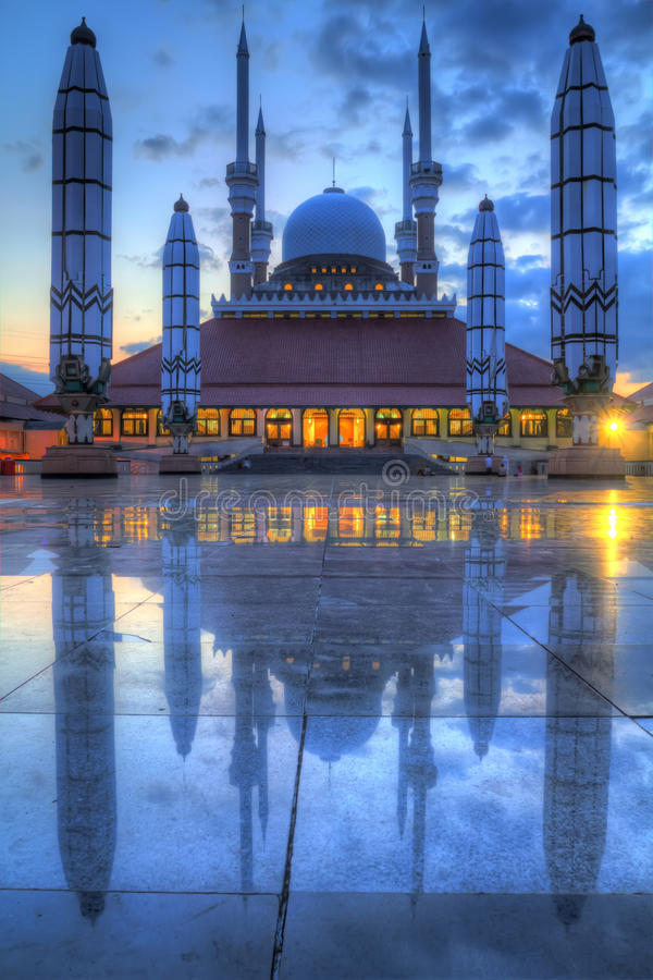 Große Moschee von Semarang lizenzfreie stockfotografie