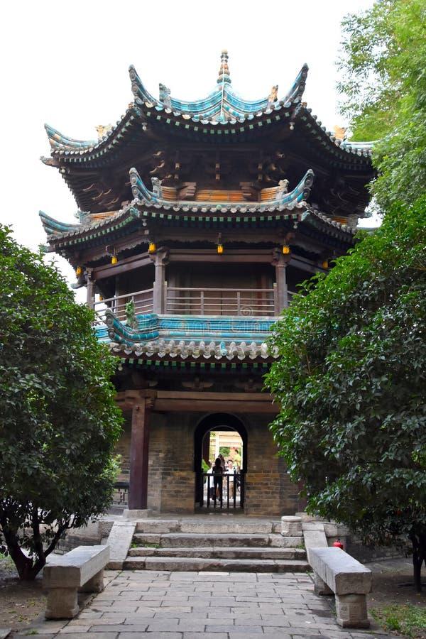 Große Moschee von Xian, China stockfotos