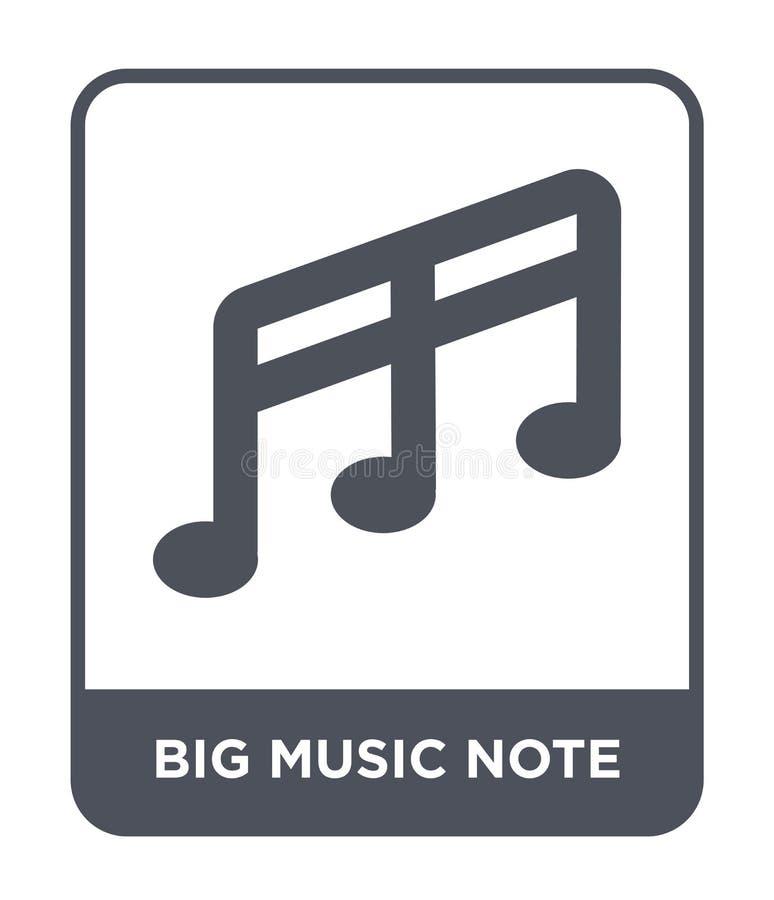 große Musikanmerkungsikone in der modischen Entwurfsart große Musikanmerkungsikone lokalisiert auf weißem Hintergrund große Musik vektor abbildung