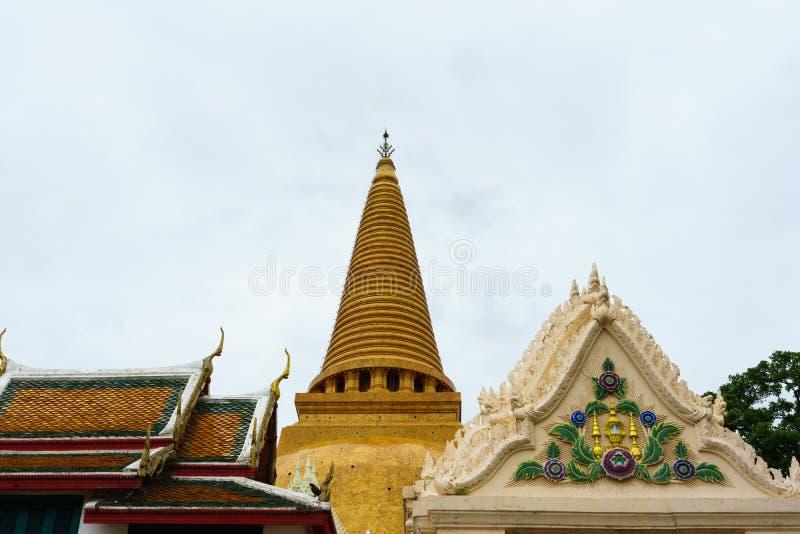 Große Pagode Phra Pathom Chedi, Nakhon- Pathomprovinz, Thailand lizenzfreies stockbild