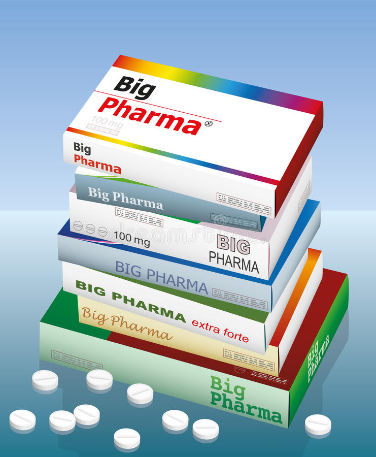 Große Pharma-Medizin lizenzfreie abbildung