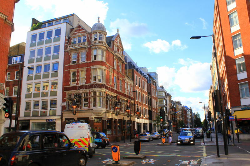 Große Portland-Straße London stockbilder
