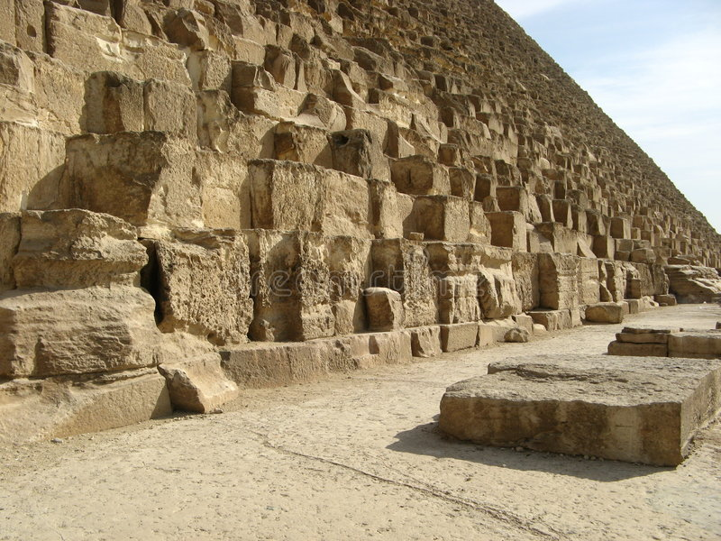 Große Pyramide Ägypten lizenzfreies stockbild