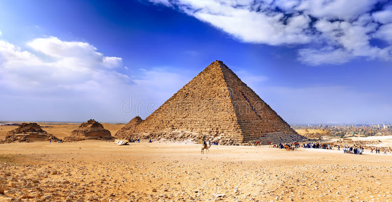 Große Pyramide von Giza. Ägypten lizenzfreie stockfotos