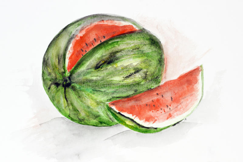Große reife Wassermelone stock abbildung