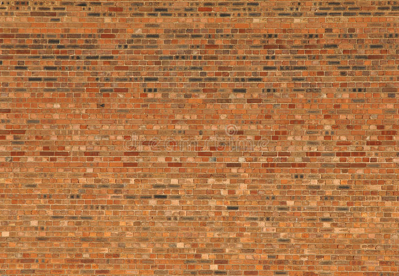 Große rote Haus-Backsteinmauer lizenzfreies stockbild