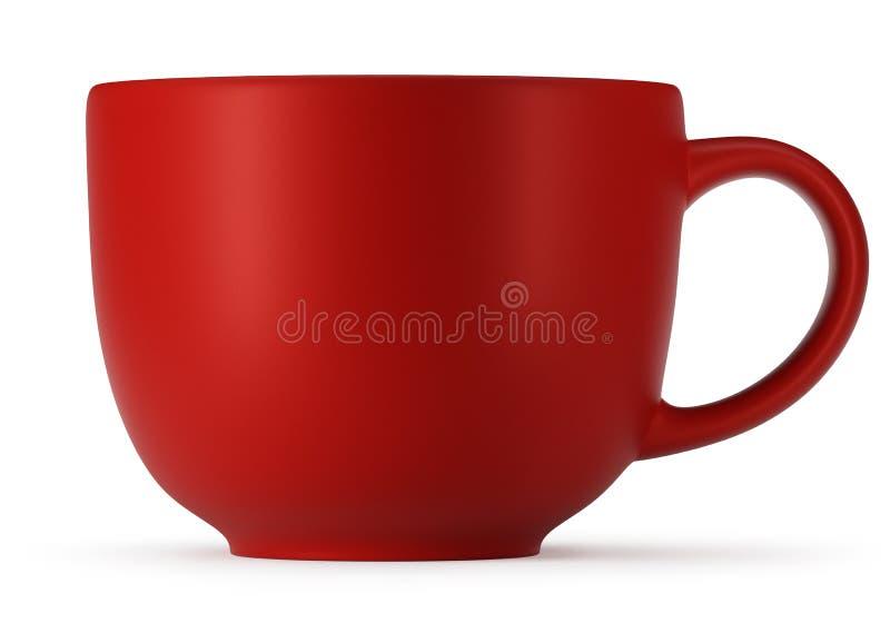 Große rote Schale lokalisiert auf weißem Hintergrund stockbild